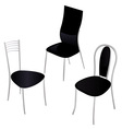 black chairs vector image vector image