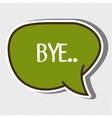 bubble text message design vector image