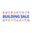 building house sale minimal infographic banner vector image