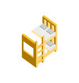 bunk bed 3d isometric furniture vector image vector image