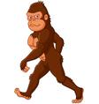 Cartoon Sasquatch walking vector image vector image