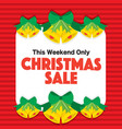 christmas sale promotion banner red background vector image vector image