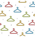 colorful hanger seamless pattern on white vector image vector image