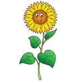 cute cartoon sunflower vector image