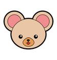 cute mouse face cartoon vector image vector image
