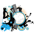 dancing youth men music city vector image