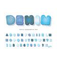 denim modern font jeans texture decorative vector image vector image