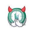 devil kyber network mascot cartoon vector image vector image