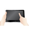 digital tablet in hands vector image vector image