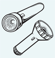 Electric pocket flashlight vector image vector image