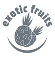 exotic fruits logo simple style vector image