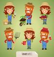 farmers set1 1 vector image vector image