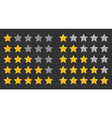 five stars rating 5 star set vector image