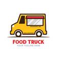 food truck logo design vector image vector image