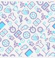 football seamless pattern vector image vector image