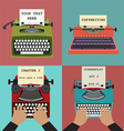 Four retro typewriters vector image
