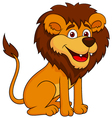 Funny lion cartoon sitting vector image vector image