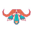 geometric head bull simple forms vector image vector image