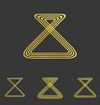 Golden line loop logo design set vector image vector image