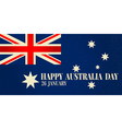 Greeting card Happy Australia Day National Celebra vector image