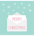 Grey envelope with snowflakes Love card vector image vector image