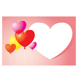Heart Shape Balloons Background and Frame vector image vector image
