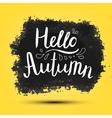 Hello Autumn poster card banner vector image