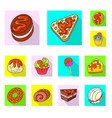 isolated object of confectionery and culinary logo vector image vector image