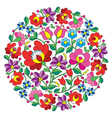 Kalocsai folk art embroidery - Hungarian round flo vector image vector image