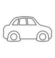 line flat tire car to drive and travel vector image vector image