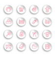 linear bacare icons set on white stickers vector image vector image