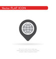 location icon pin sign vector image vector image