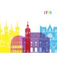 Lyon skyline pop vector image vector image