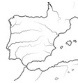 map the spanish lands spain portugal vector image vector image