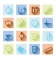 measuring flat icons vector image