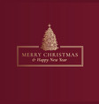 merry christmas and happy new year abstract vector image vector image