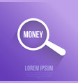 money word magnifying glass vector image vector image