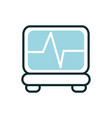 monitoring cardio heart rate equipment medical vector image vector image