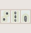 natural abstract japanese stone garden art set vector image