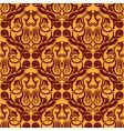 orange seamless wallpaper vector image vector image