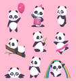 panda kids little funny bear sweet animals in vector image vector image
