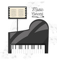 piano instrument with music sheet concept music vector image vector image