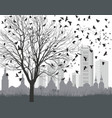 ravens outside the city vector image vector image
