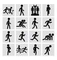 Runner figure icons vector image vector image