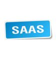 saas square sticker on white vector image vector image
