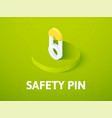 safety pin isometric icon isolated on color vector image vector image