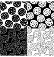 Seamless Patterns with dices vector image