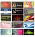 set horizontal business cards vector image
