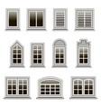set modern windows frames to design or remodel vector image