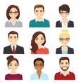 set of business men and women vector image